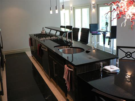 kitchen island with cooktop and seating incridible black granite top kitchen island with seating