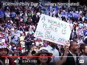 CLINTON WINS DEMOCRATIC NOMINATION IN CONVENTION TOUTING ...