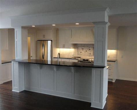 traditional kitchen bar  columns kitchen columns