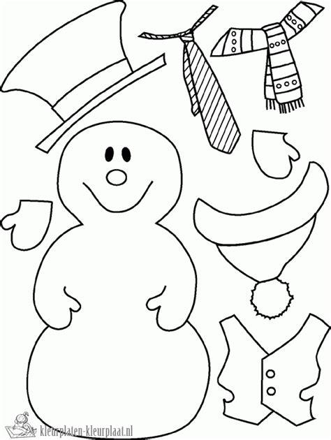 Sneeuwman Kleurplaat Simpel by Kleurplaten Sneeuwpop Kleurplaten Kleurplaat Nl