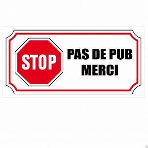 Pas De Pub Merci : 1 sticker autocollant stop pas de pub merci boite aux ~ Dailycaller-alerts.com Idées de Décoration