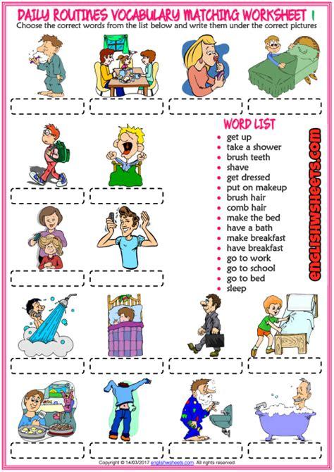resultado de imagen de daily routine worksheet idioma