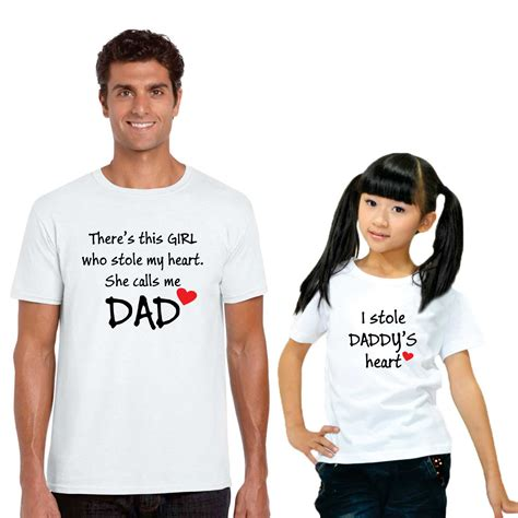 I stole My Dads Heart Dad and Daughter Tshirts   Giftsmate