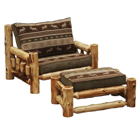 chair and a half with ottoman sale over sized log chair with ottoman