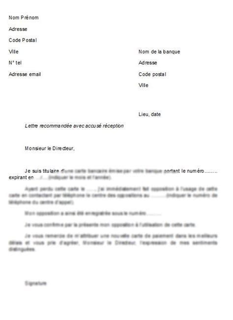 modele lettre avertissement absence non justifiée modele de lettre pour opposition carte bancaire contrat
