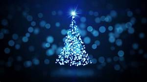 Graphic, Animation, Of, Christmas, Tree, With, Twinkling, Lights, Rotating, On, A, Blue, Background, Stock
