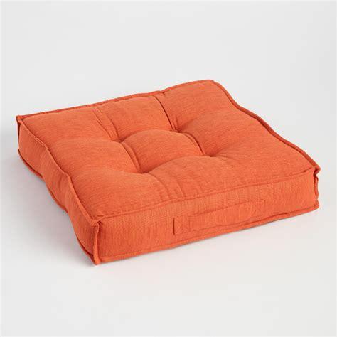 world market floor pillows orange khadi tufted floor cushion world market