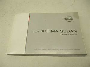 2014 Nissan Altima Owners Manual Book Oem Lkq
