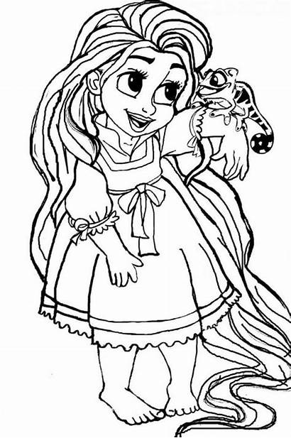 Coloring Rapunzel Pages Princess Disney Belle Christmas