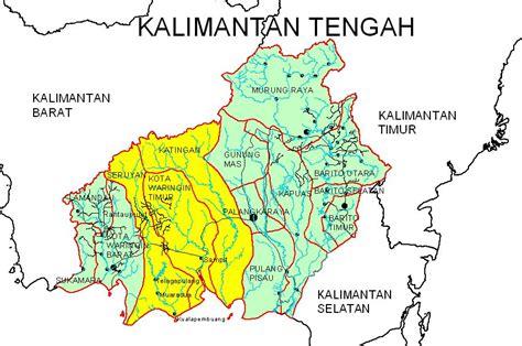 business map propinsi kalteng kabupaten katingan