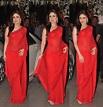 Kareena Kapoor in Plain Red Saree – South India Fashion