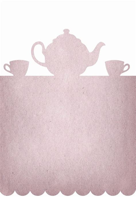 tea party invitation template word    images