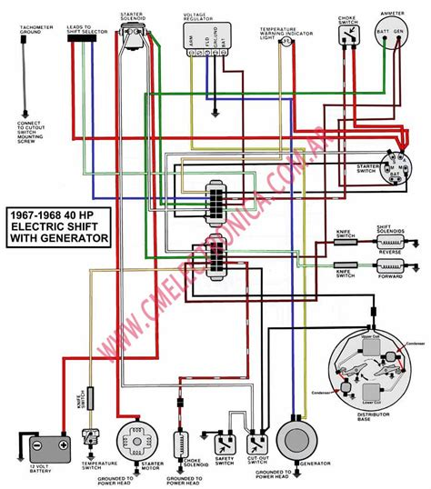 40 Hp Evinrude Wiring Diagram by Diagrama Evinrude Johnson 67 68 40hp