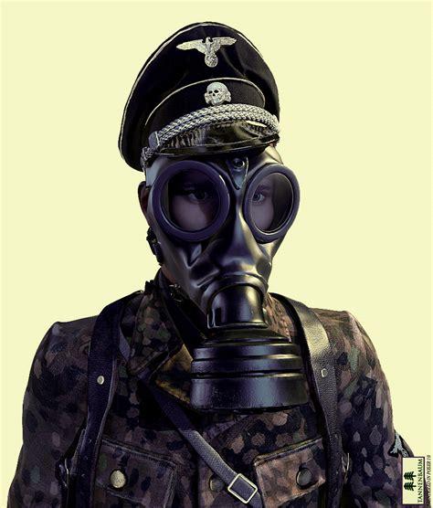 german gas mask  models tannenbaum
