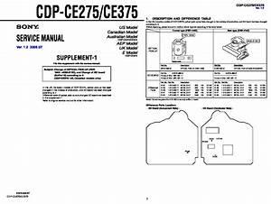 Sony Cdp-ce275  Cdp-ce375 Service Manual