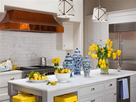 Kitchen Blue And Yellow Kitchen Pictures, Decorations