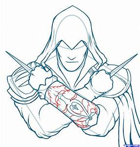 Draw Ezio, Assassins Creed, Ezio, Step by Step, Drawing ...