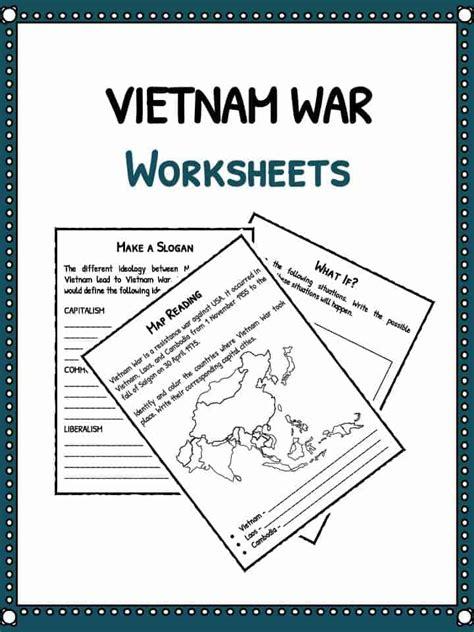 vietnam war facts information worksheets lesson plans