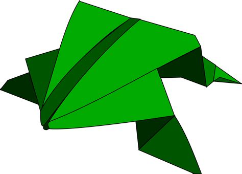 clipart origami jumping frog