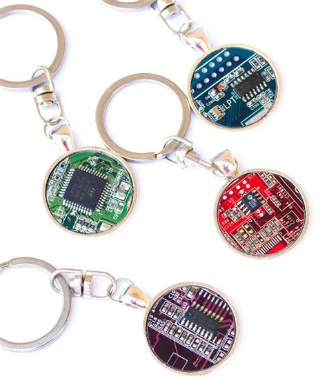 Circuit Board Keychain For Men Gift Him