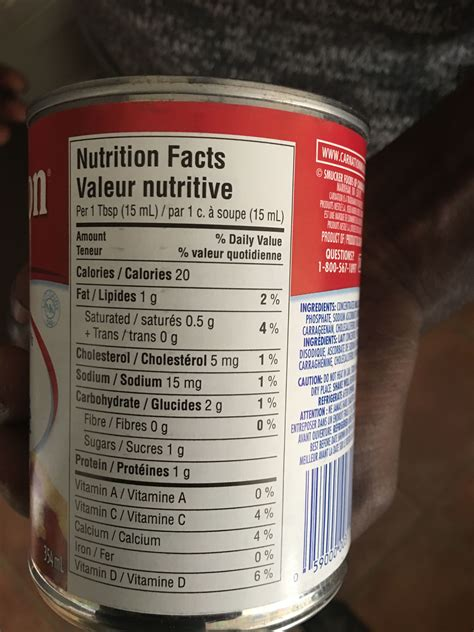 carnation evaporated milk nutrition label nutrition ftempo