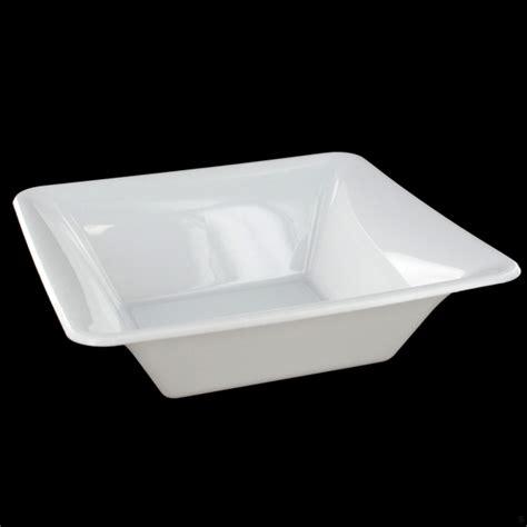 medium square white plastic bowls pk20 plastic bowls