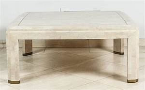 maitland smith mosaic square ivory coffee table for sale With ivory marble coffee table
