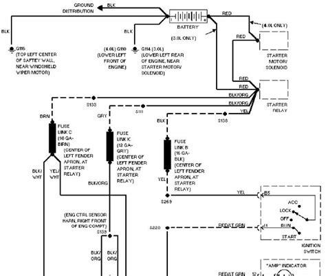 charging system schematic  ford aerostar