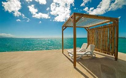 Landscape Beach Summer Tropical Caribbean Resort Nature