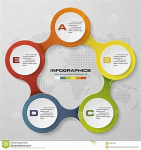 5 Steps Circle Infographics Diagram  Stock Vector