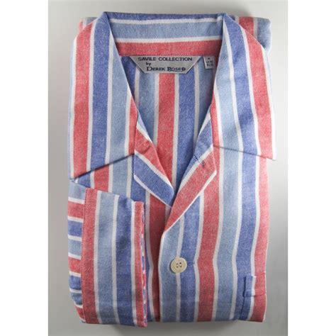 derek rose mens warm brushed cotton stripe tie waist
