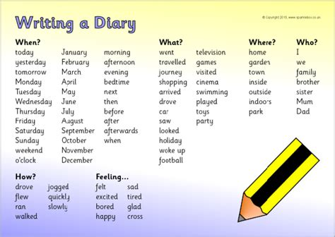 diary writing  st stephens    primary school