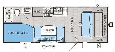 Travel Trailer Floor Plans With Bunks by 2015 Flight 23mb Jayco Inc
