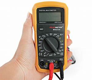 Peakmeter Ms8233a Manual Range Mini Palm Size Digital