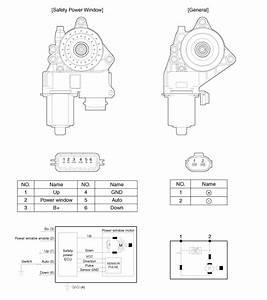 Hyundai Sonata  Power Window Motor  Schematic Diagrams