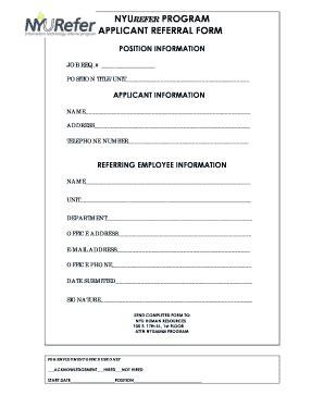 sample announcement  employee referral program fill