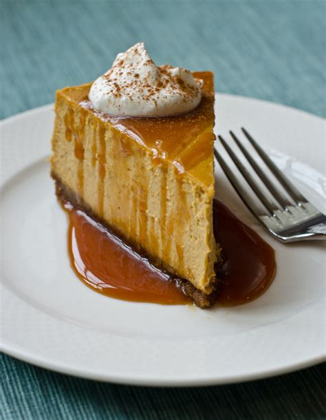 pumpkin pie cheesecake recipe pumpkin cheesecake with gingersnap crust and caramel sauce once upon a chef