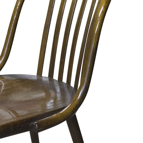 pair of vintage bentwood chairs mid century