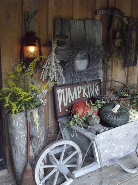 Primitive Fall Porch Dec Pinterest