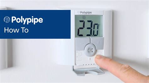 polypipe underfloor heating controls pairing and digital thermostats