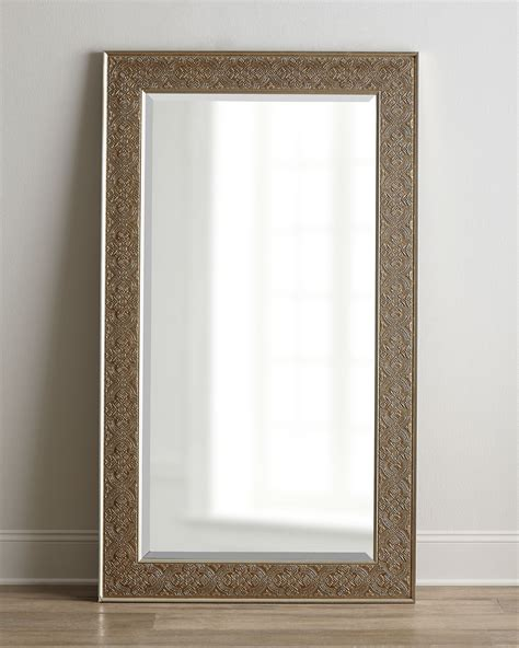 floor mirror silver classic bedroom with audra antiqued silver chagne leaf wall floor mirror and rectangular