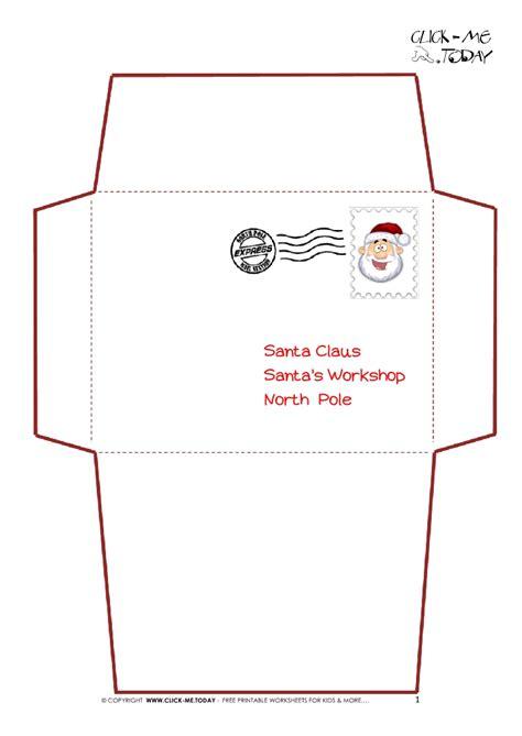 printable letter  santa claus envelope template simple