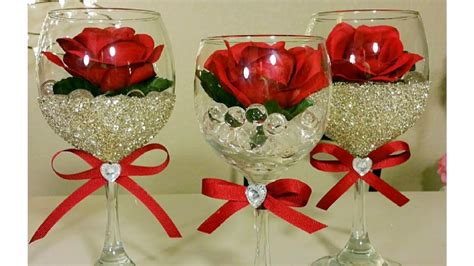 diy bling dollar tree wine glass decor inexpensive diy