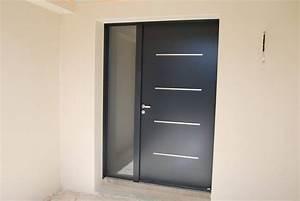pose d39une porte d39entree en acier laque 7016 aux matelles With pose d une porte d entree