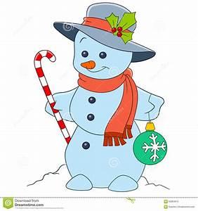 Cute cartoon snowman stock vector. Image of carrot ...