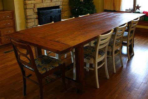 large and vintage solid wood farmhouse dining table
