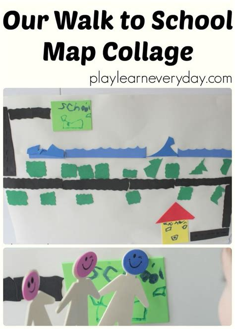 Our Walk To School Map Collage Mom Stuff Map Collage