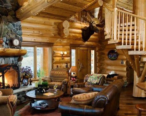 log cabin decorating houzz