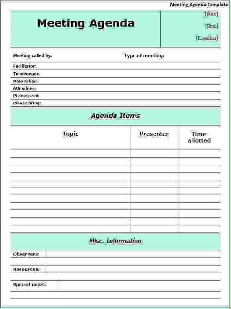 memorial program template 12 meeting agenda formatagenda template sle agenda