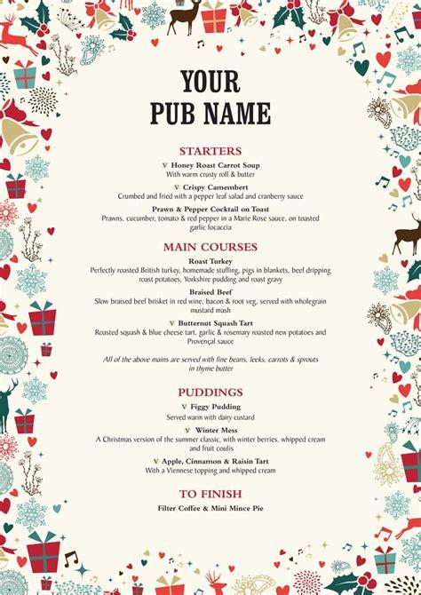 cocktail menu templates for christmas fun for christmas